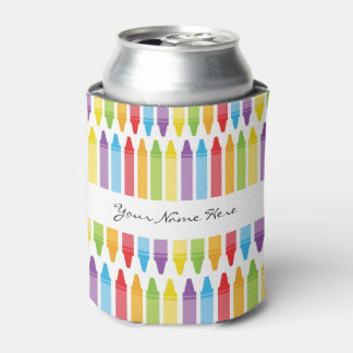 Personalized Teacher's Crayons Can Cooler