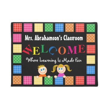think_out_loud Personalized Teacher's Fun Welcome Doormat