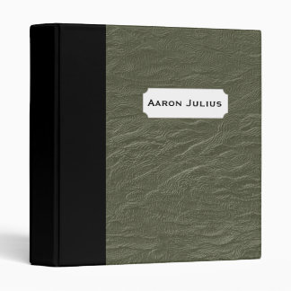 Personalized Teacher's Green Faux Leather Binder
