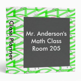 Personalized Teachers Math Tools Class Planner 3 Ring Binder