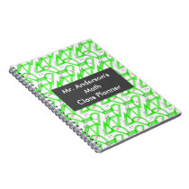 Personalized Teachers Math Tools Spiral Notebook