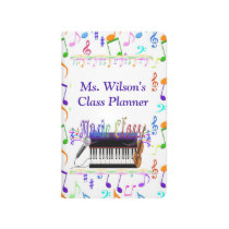 Personalized Teachers Music Class Pocket Journal