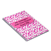 Personalized Teachers Pink Math Tools Notebook