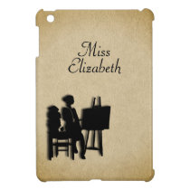 Personalized Teacher's Room Leather Look Cover For The iPad Mini