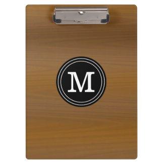 Personalized Teachers Wood Pattern Monogrammed Clipboard