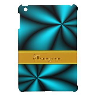 Personalized Teal Blue Turquois Star Flower iPad Mini Cover