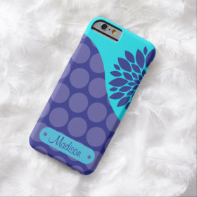 Personalized Teal Purple Polka Dots iPhone 6 Case