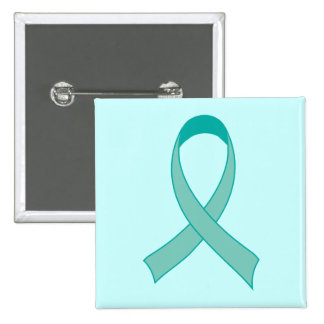 Personalized Teal Ribbon Fridge Magnet Gift Button