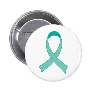 Personalized Teal Ribbon Tshirt Gift Button