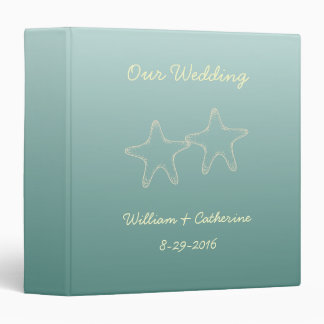 Personalized Teal Starfish Wedding Binder