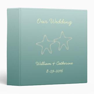 Personalized Teal Starfish Wedding Binder
