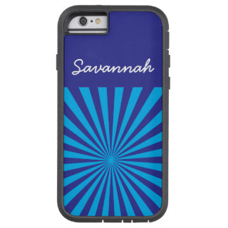 Personalized Teal Turquoise Blue Star Burst Case iPhone 6 Case