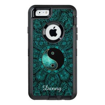Personalized Teal Yin Yang Mandala Otterbox Case by hashtagawesomesauce at Zazzle