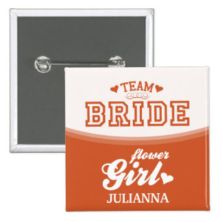Personalized Team Bride Flower Girl Button