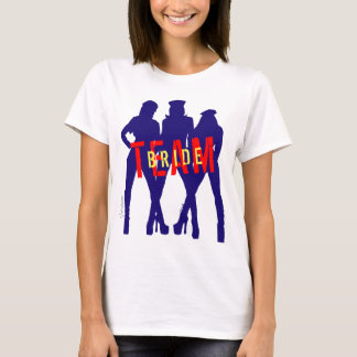 Personalized Team Bride Womens Girls by VIMAGO T-Shirt