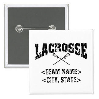 Personalized Team City State Lacrosse T-Shirts Button