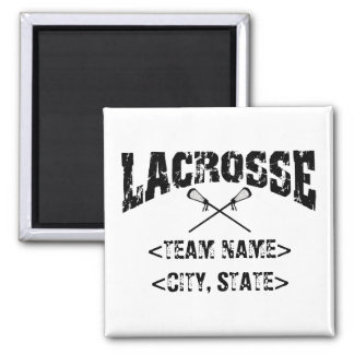 Personalized Team City State Lacrosse T-Shirts Magnet