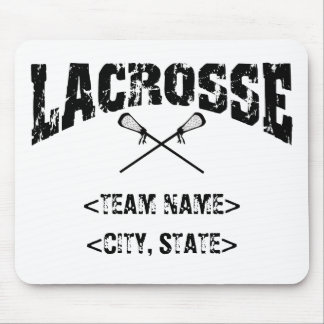 Personalized Team City State Lacrosse T-Shirts Mouse Pad
