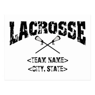 Personalized Team City State Lacrosse T-Shirts Postcard