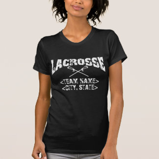 Personalized Team City State Lacrosse T-shirts