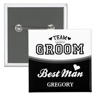 Personalized Team Groom Best Man Button