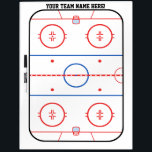 "Personalized Team Hockey Rink Game Planner Dry Erase Board<br><div class=""desc"">A fine sporty custom embroidery design on a comfy casual embroidered gear you can also personalize to make it as unique as you are. 