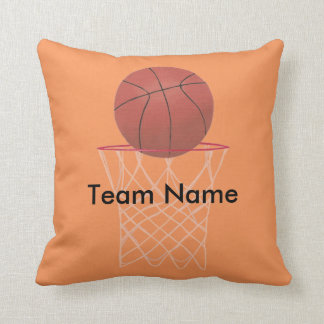 Personalized Team Name Basketball Pillows
