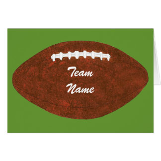 Personalized Team Name Football, greeting cards
