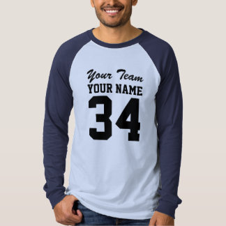 Personalized Team Name Number Sports Jersey T Shirt