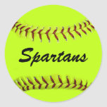 Personalized Team Softball Stickers