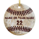 Personalized Team Vintage Baseball Ornaments