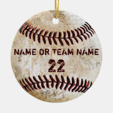 Personalized Team Vintage Baseball Ornaments at Zazzle