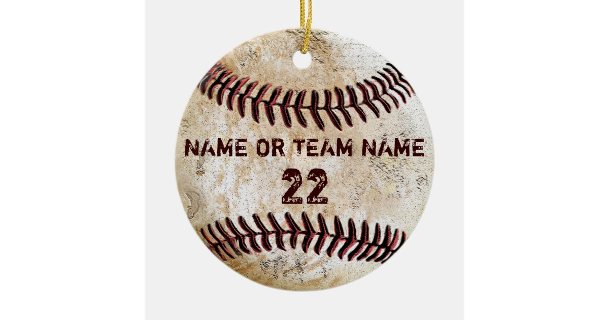 personalized team vintage baseball ornaments zazzlecom - Baseball Christmas Ornaments