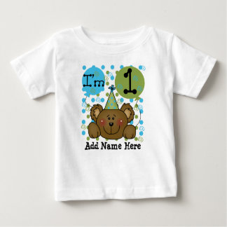 Personalized Teddy Bear 1st Birthday T-shirt
