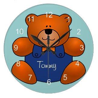 Personalized Teddy Bear Design Wall Clock