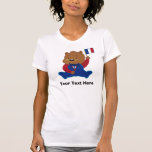 Personalized Teddy Bear French Flag Shirts