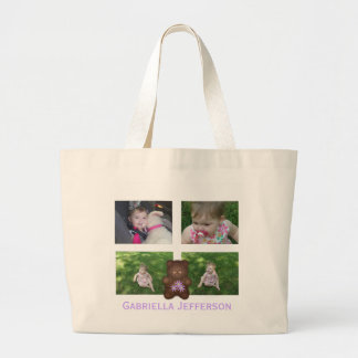 Personalized Teddy Bear: Picture Collage Tote Bag