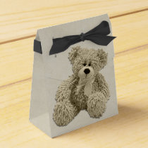 Personalized Teddy Bear Thank You Baby Shower Favor Box