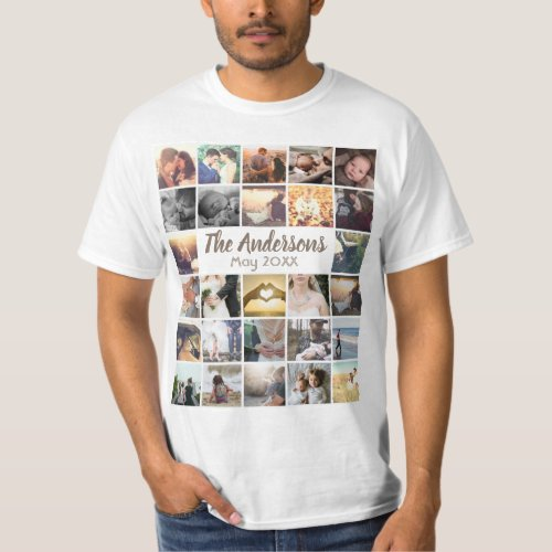 Personalized template photo collage and text T_Shirt