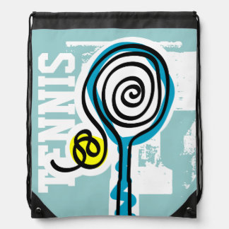 Personalized tennis bag | cute drawstring backpack