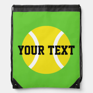 Personalized tennis ball bag | drawstring backpack