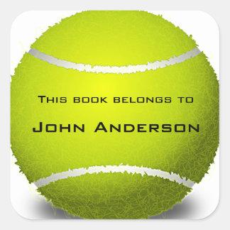 Personalized Tennis Ball Bookplate Sticker