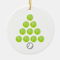Personalized Tennis Ball Christmas Tree Ornament