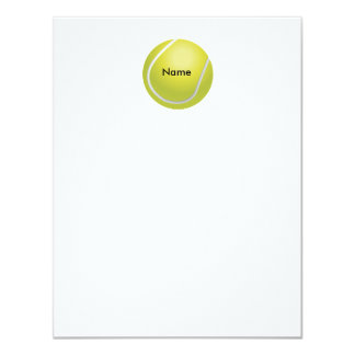Personalized Tennis Ball Flat Note Card