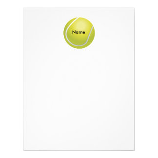 Personalized Tennis Ball Flat Note Card Personalized Invitations