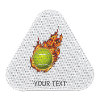 Personalized Tennis Ball on Fire Tennis Theme Gift Speaker