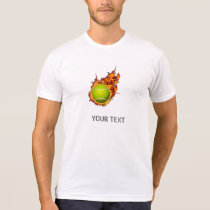 Personalized Tennis Ball on Fire Tennis Theme Gift T-Shirt