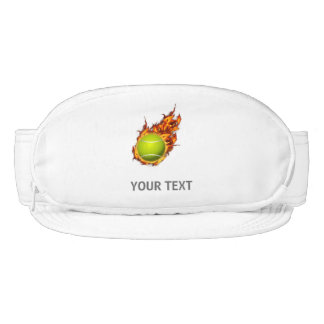Personalized Tennis Ball on Fire Tennis Theme Gift Visor