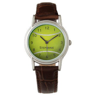 Personalized Tennis Ball Sports Women's Wrist Watch