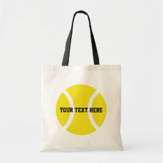 Personalized tennis ball tote bags at Zazzle